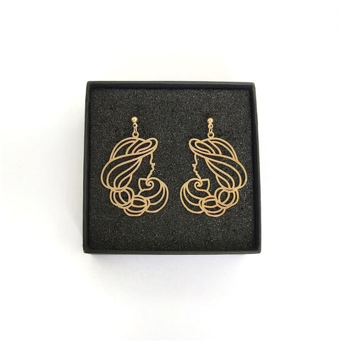 Jasmine Face Earrings