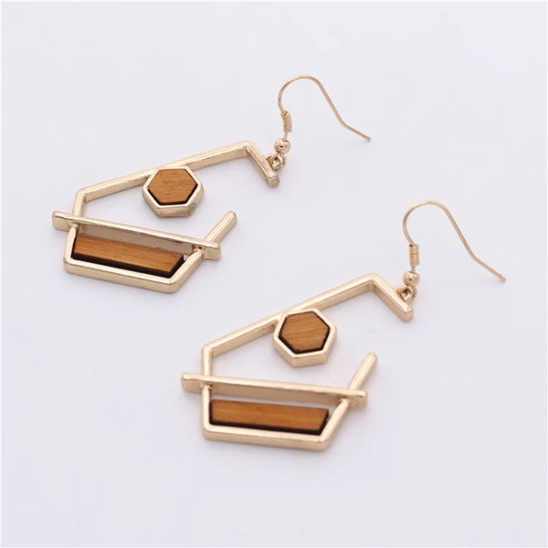 Esme Dangle Wood Earrings