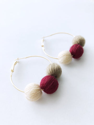 Paloma Hoop Earrings (Taupe)