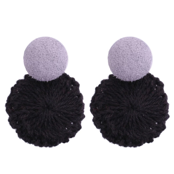 Naomi Weave Earrings (Black)