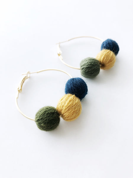 Paloma Hoop Earrings (Olive)