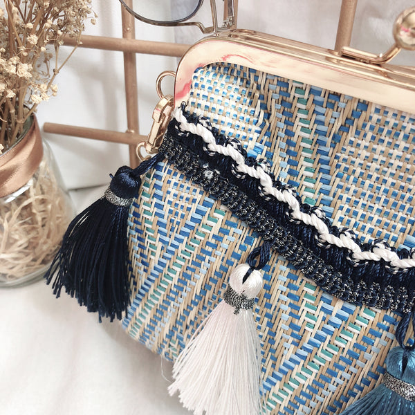 Casey Tassel Bag V2 (Blue)