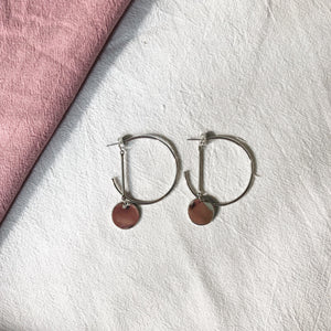 Nicole Hoop Dangle Earrings (Silver)