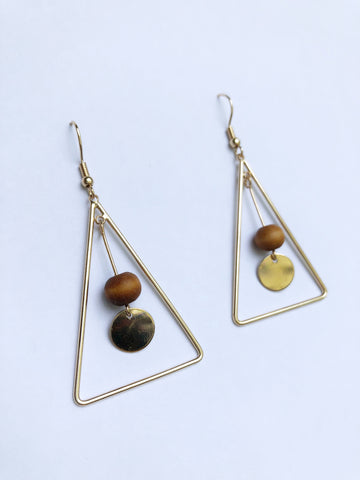 Hera Earrings (Wood)