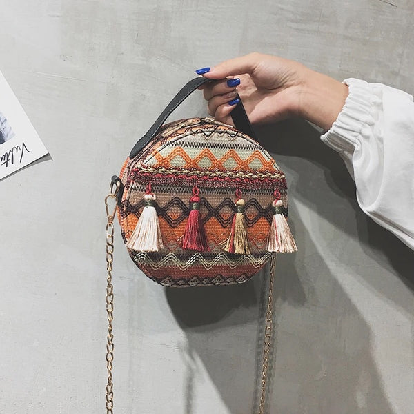 Hazel Tassel Bag (Sunset)