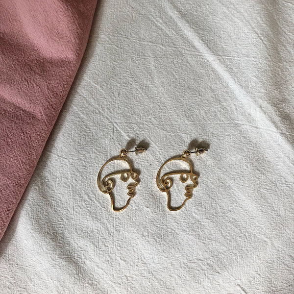 Stanley Face Earrings
