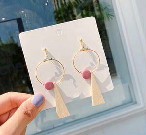Kelcy Wood Dangle Earrings
