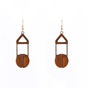 Issy Dangle Wood Earrings