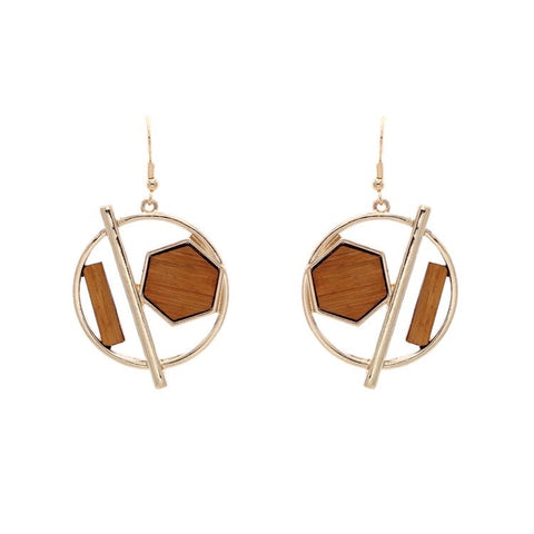 Mabel Dangle Wood Earrings