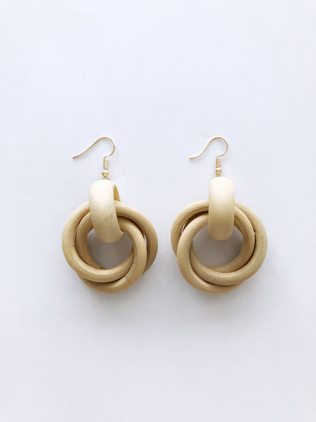Xylona Earrings (Light Wood)