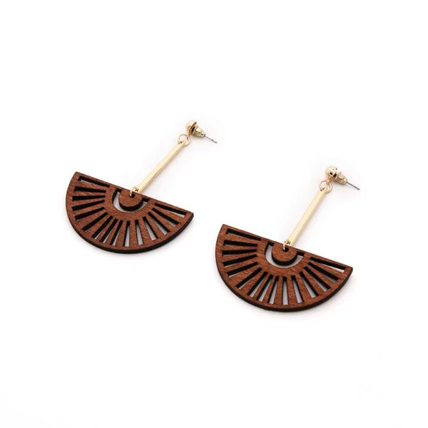 Merci Dangle Wood Earrings