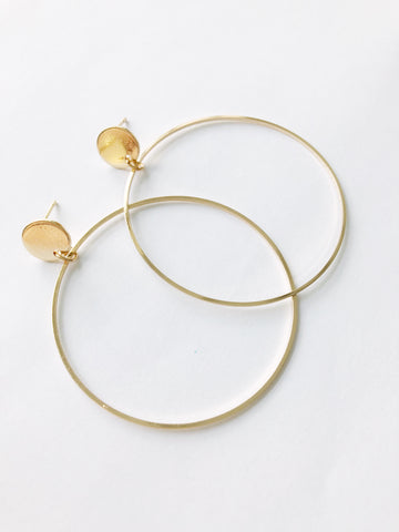 Iola Hoop Earrings (Gold)
