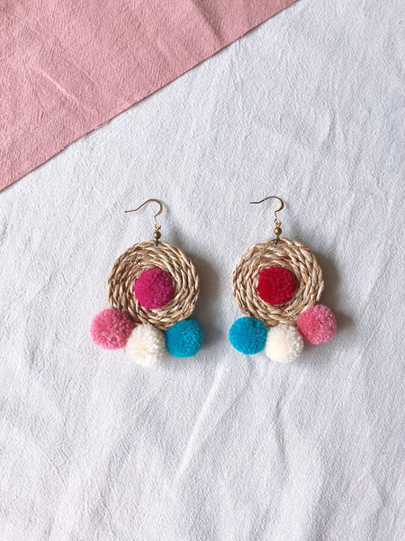 Ida Rattan Pom Pom Earrings 6