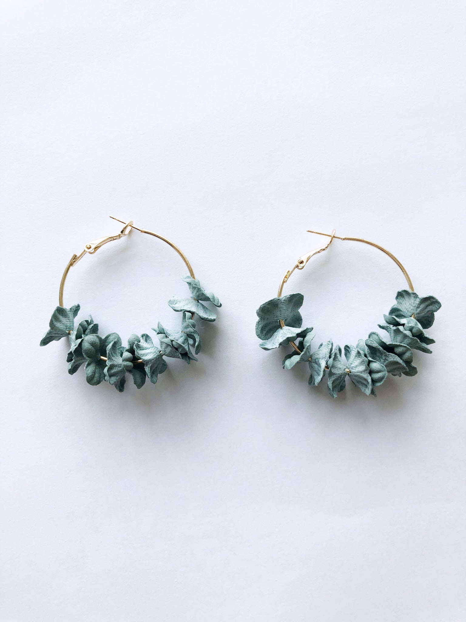 Saffi Hoop Earrings (Pale Blue)