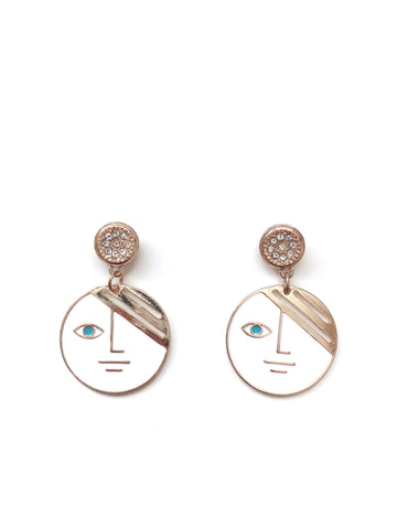 Fai Two-Faced Earrings (White)