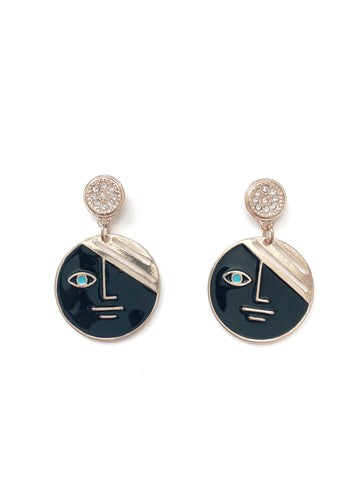 Fai Two-Faced Earrings (Black)