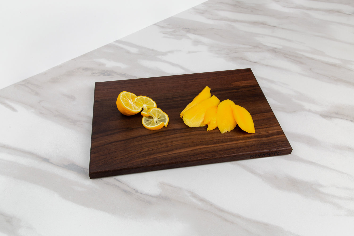 Edge Grain Walnut Cutting Board (12 x 8 x .75 Inches)