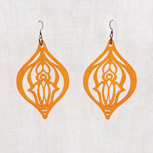 Pussy Power Earrings Orange