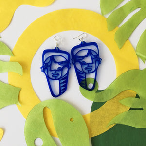 Pachamama Earrings Dark Blue