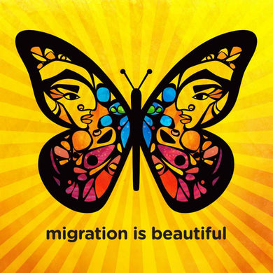 Migration is Beautiful 4x4 Stickers - 2017 Edition