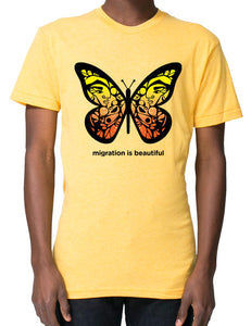 Crew Neck Migration is Beautiful T-shirts