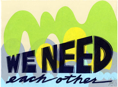 We Need Each Other EV 10/36