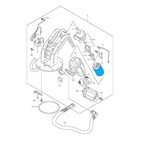 Fuel Pump with Regulator for 2007-2009 Suzuki Bandit replace