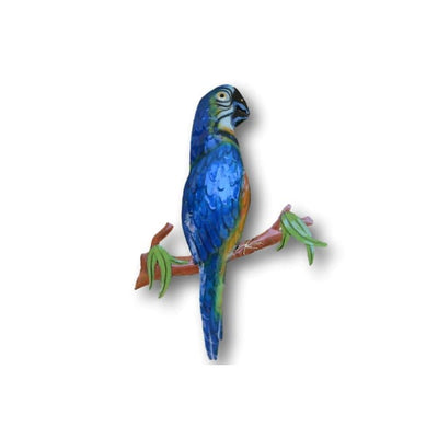 A$44.95 - BLUE MACAW WALL ART - HAND MADE BALI METAL ART 0KG (1) ISLAND BUDDHA