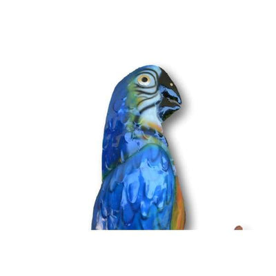 A$44.95 - BLUE MACAW WALL ART - HAND MADE BALI METAL ART 0KG (2) ISLAND BUDDHA