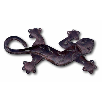 A$69 - BRONZE GECKO WALL ART - HAND MADE BALI METAL ART 0.4KG (4) ISLAND BUDDHA