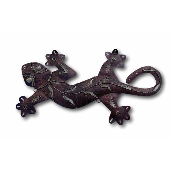 Bronze Gecko Wall Art - Hand Made Bali Metal Art