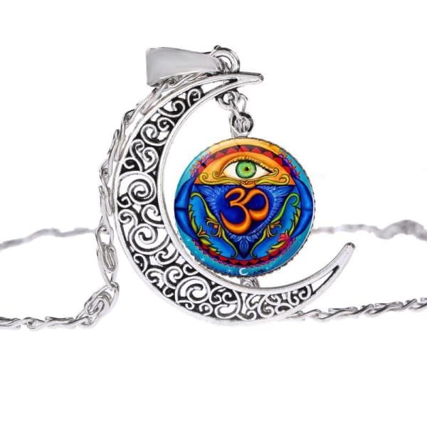 Buddhist Style Semi Moon Necklace