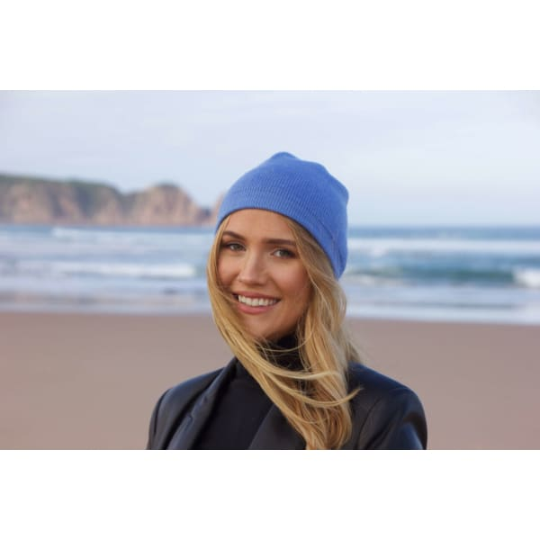 A$49 - CASHMERE BEANIE - HAND MADE IN NEPAL 🇳🇵 UNISEX & ONE SIZE FITS MOST BLACK 0.3KG (1) ISLAND BUDDHA