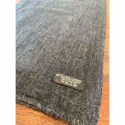A$74.95 - CASHMERE PASHMINA SCARF - HAND MADE IN NEPAL 🇳🇵UNISEX CHARCOAL 0.4KG (31) ISLAND BUDDHA