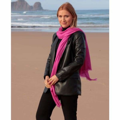 A$74.95 - CASHMERE PASHMINA SCARF - HAND MADE IN NEPAL 🇳🇵UNISEX PINK 0.4KG (8) ISLAND BUDDHA