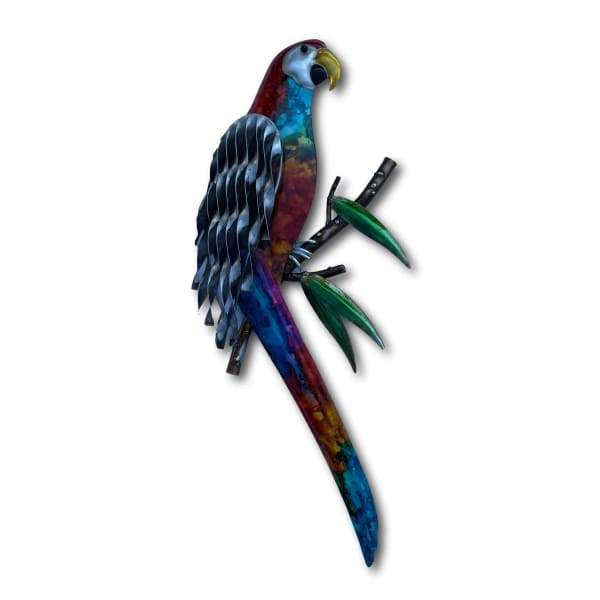 Colourful Macaw Parrot Wall Art - Hand Made Metal Art