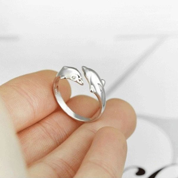 Dolphin Ring - Sterling Silver 925 🐬