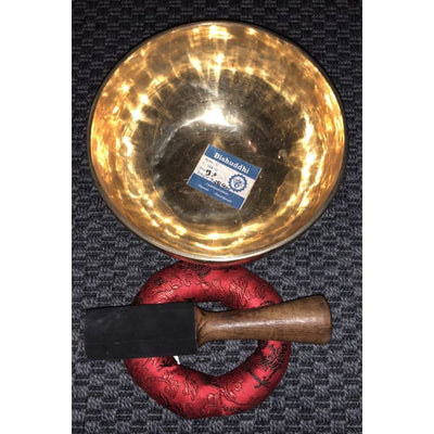 "Genuine Nepalese Singing Bowl - Hand Made ""G"" Note Bishuddhi - Throat Chakra - Island Buddha"