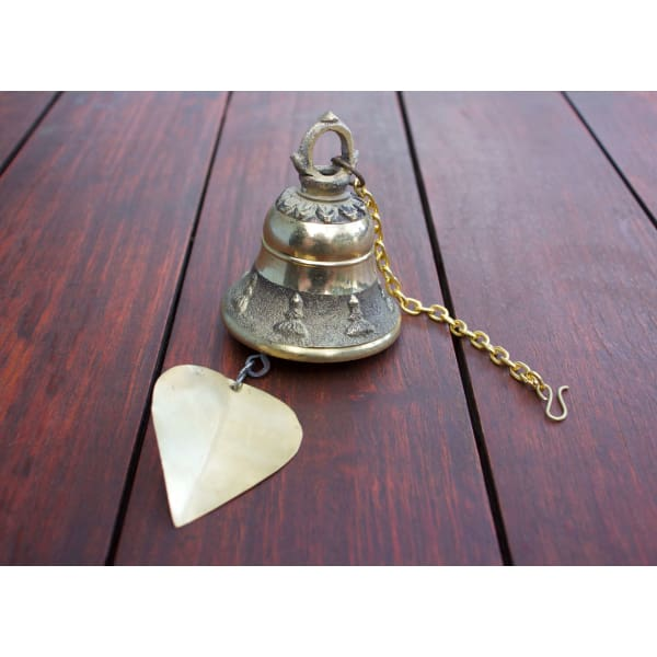 A$39.95 - GOLD BRASS BUDDHIST BELLS NEPALESE WIND CHIME - HAND MADE IN NEPAL🇳🇵 (1) ISLAND BUDDHA