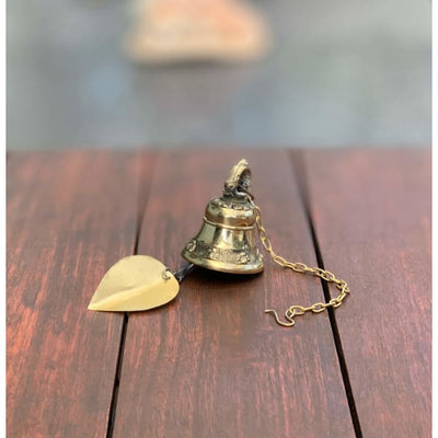 A$39.95 - GOLD BRASS BUDDHIST BELLS NEPALESE WIND CHIME - HAND MADE IN NEPAL🇳🇵 SMALL 0.25KG (7) ISLAND BUDDHA
