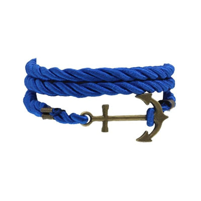 A$14.95 - NAUTICAL ROPE & ANCHOR BRACELET BLUE 0.05KG (3) ISLAND BUDDHA