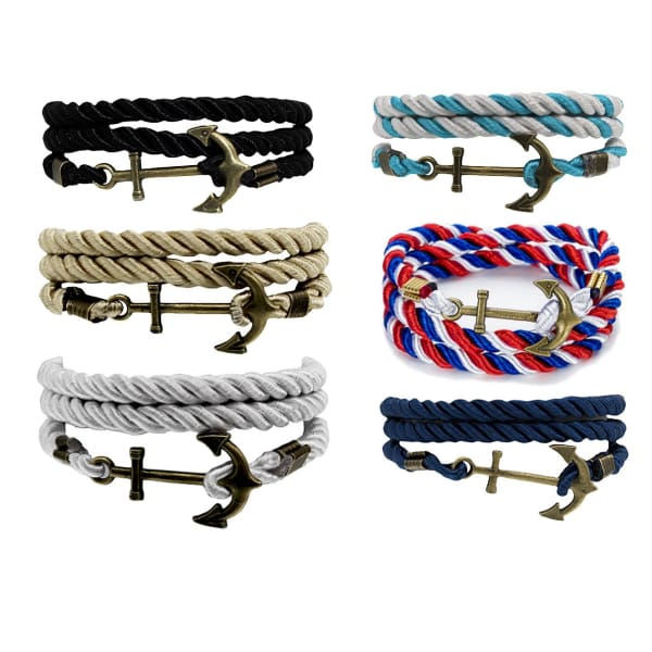 Nautical Rope & Anchor Bracelet