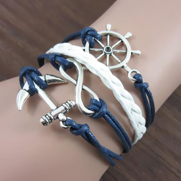 A$17.95 - NAUTICAL ROPE ANCHOR HELM & INFINITY BRACELET ⚓️⎈♾ (1) ISLAND BUDDHA