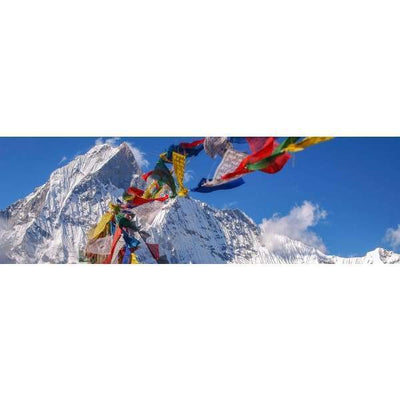 $44.95 - NEPALESE TIBETAN PRAYER FLAGS HAND MADE IN NEPALSMALL MEDIUM & LARGE (12) ISLAND BUDDHA