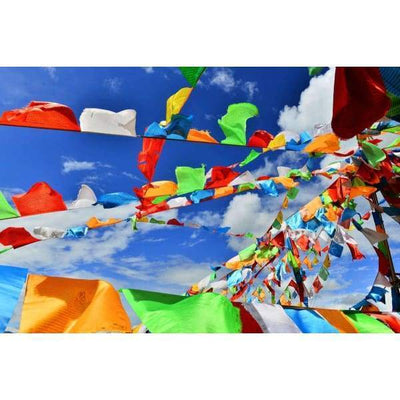 $44.95 - NEPALESE TIBETAN PRAYER FLAGS HAND MADE IN NEPALSMALL MEDIUM & LARGE (15) ISLAND BUDDHA