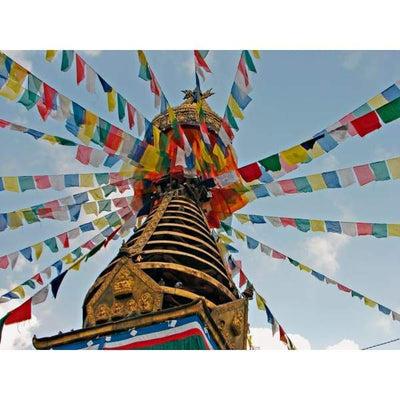 $44.95 - NEPALESE TIBETAN PRAYER FLAGS HAND MADE IN NEPALSMALL MEDIUM & LARGE (11) ISLAND BUDDHA