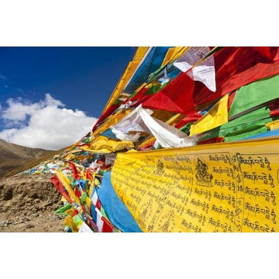 $44.95 - NEPALESE TIBETAN PRAYER FLAGS HAND MADE IN NEPALSMALL MEDIUM & LARGE (14) ISLAND BUDDHA