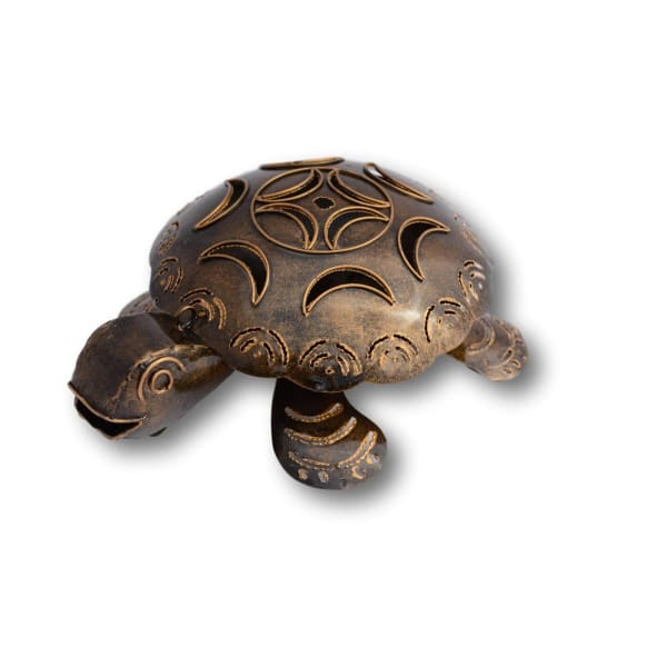 A$44.95 - TURTLE MOSQUITO COIL HOLDER - HAND MADE BALI METAL ART BRONZE 0.4KG (1) ISLAND BUDDHA