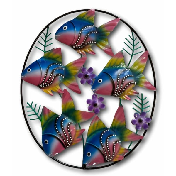 Under The Sea, Fish Garden Wall Art - Hand Made Bali Metal Art