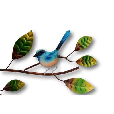A$89 - WRENS ON A BRANCH WALL ART - HAND MADE BALI METAL ART 0.98KG (3) ISLAND BUDDHA